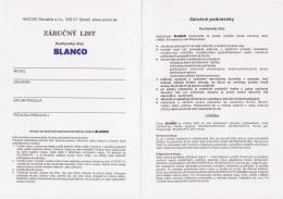 Záručný list na drezy [formát PDF | 0,7 MB]