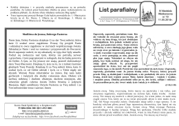List parafialny - Parafia p.w. Wniebowzięcia NMP w Krapkowicach