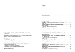I. Heidegger a kritika metafyziky II. Reflexie raných