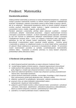 Matematika 5.ročník – autor Mgr. J. Tatarková