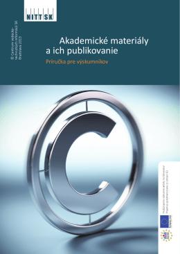 Akademické materiály a ich publikovanie