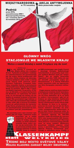 LASSENKAMPF - Klassenkampf statt Weltkrieg