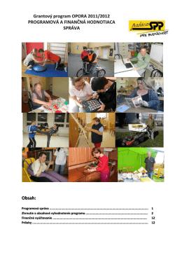 Záverečná správa z programu Opora 2011