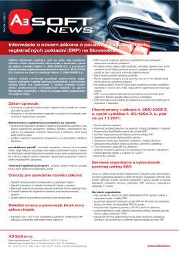Informácie o novom zákone o používaní elektronických