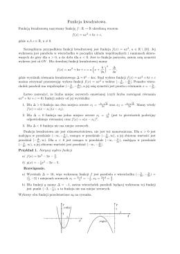 Funkcja kwadratowa.