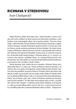 Richnava v stRedoveku Ivan Chalupecký