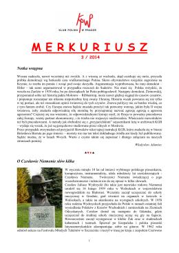 Merkuriusz nr. 3/2014 - Klub Polski w Pradze