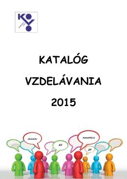 katalóg vzdelávania 2015
