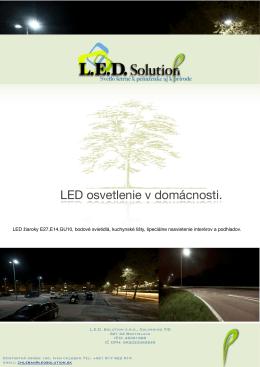 Cenník LED svietidiel pre domácnosti v3 - nov 2012