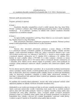 Uznesenia OZ z 5. zasadnutia konaného 13.12