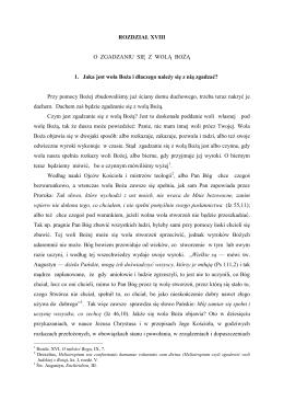 rozdział xviii - o zgadzaniu się z wolą bożą