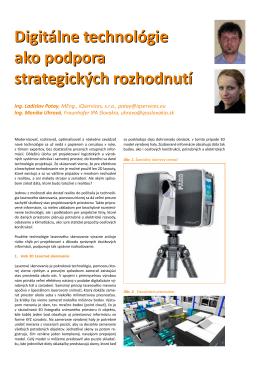 Digitálne technológie ako podpora strategických