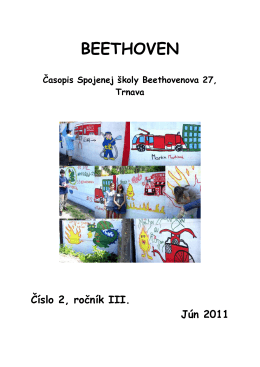 BEETHOVEN _jun 2011.pdf - Spojená škola, Beethovenova 27