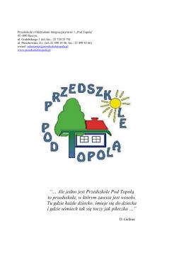materiał informacyjne – Przedszkole Pod Topolą