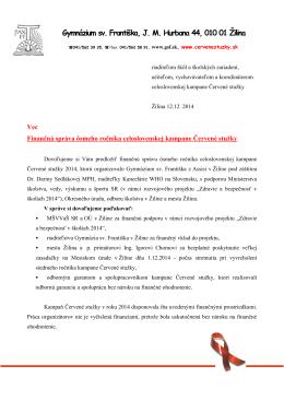 Finančná správa - Červené stužky