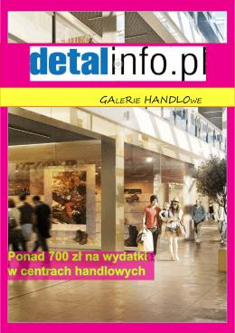 Ponad 700 zł na wydatki w centrach handlowych