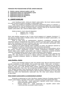 Poriadok JH - Slovenská kynologická jednota