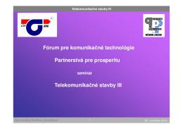 Ing. Ján Šebo, CTF - Partnerstvá pre prosperitu