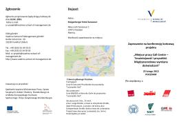 Zgłoszenie Dojazd: - Viadrina School of Management gGmbH