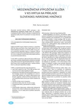 Darina Janovská: MVS v KIS Virtua na príklade SNK