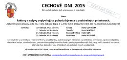 CECHOVÉ DNI 2015 - Cech strechárov Slovenska