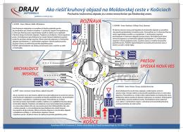 Kruhový objazd - Moldavská cesta