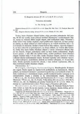 250 Hesperis 5. Hesperis slovaca (F. D vofak ) F . D vorak Vecernica