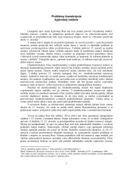 Interpretácia kyjevskej notácie II
