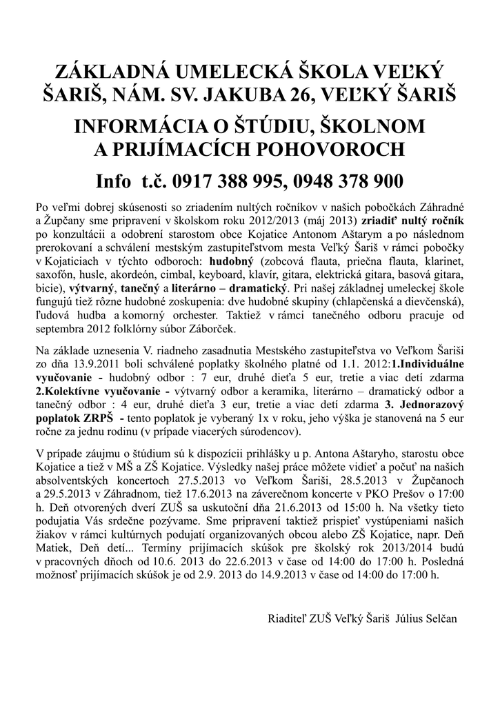 ZÁKLADNÁ UMELECKÁ ŠKOLA VEĽKÝ ŠARIŠ 19d6f4db945