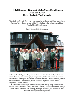 Spotkanie Klubu Menedżera Seniora