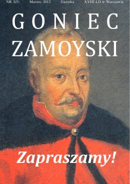 Zapraszamy! - XVIII LO im. Jana Zamoyskiego w Warszawie