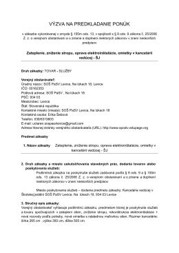 Výzva 14.11.2014-Zateplenie, zníženie stropu