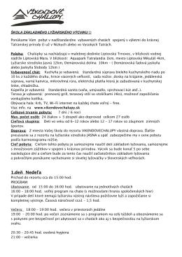 Lyžiarsky výcvik Ponuka, cena a bližšie informácie