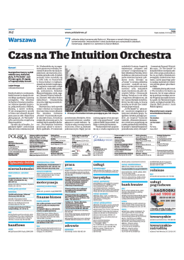 Czas na The Intuition Orchestra