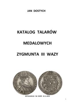 Zygmunt III Waza cz.1 Talary Medalowe