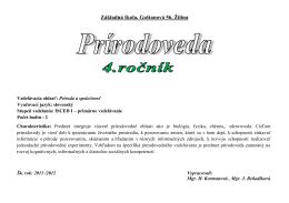 PRI - Základná škola Gaštanová, Žilina