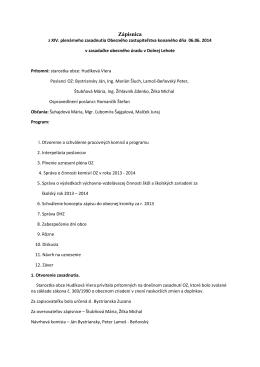 Zápisnica zo XIV. plenarneho zasadnutia - E