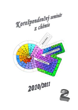 juniori - Korešpondenčný seminár z chémie