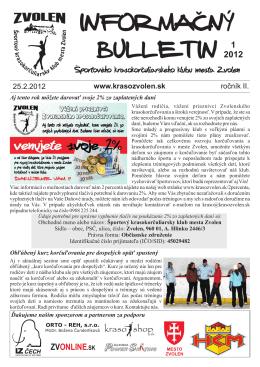1/2012 - Športový krasokorčuliarsky klub mesta Zvolen