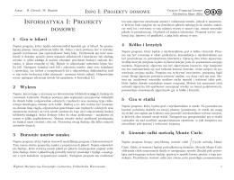 Informatyka I: Projekty domowe - C-CFD