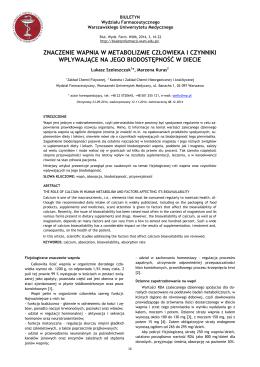 Wersja pdf do pobrania - Biuletyn Wydziału Farmaceutycznego