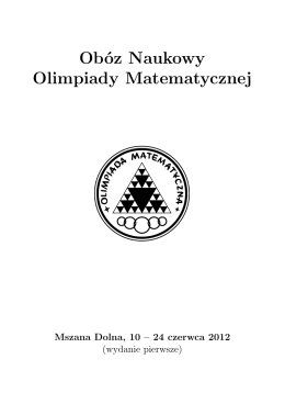 Obóz Naukowy Olimpiady Matematycznej