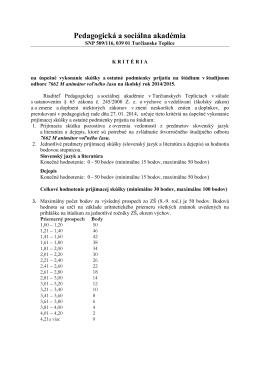 Pedagogická a sociálna akadémia Turčianske Teplice