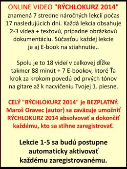 rýchlokurz 2014