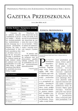 gazetka przedszkolna - Zgromadzenie Najświętszego Serca Jezusa