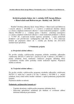 633002 Stredná odborná škola Juraja Ribaya, Partizánska 76