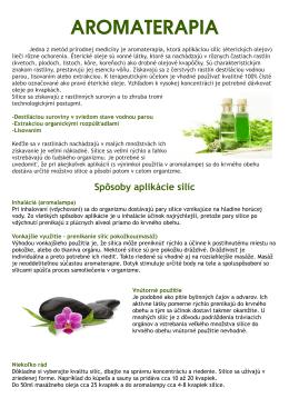 AROMATERAPIA - Naturstore.sk