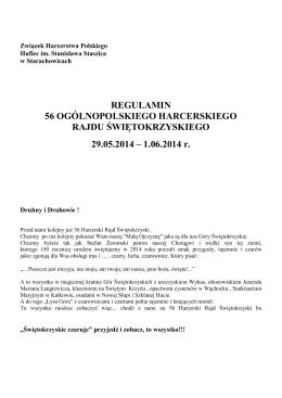 Regulamin 56 Harcerskiego Rajdu Świętokrzyskiego, wersja .pdf
