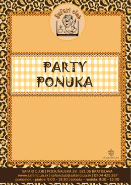 PARTY PONUKA - Safari Club