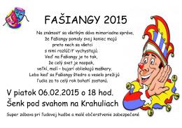 FAŠIANGY 2015